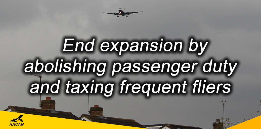 Frequent flyer tax plan could end the need for expansion altogether. Hacan/hacan.orguk