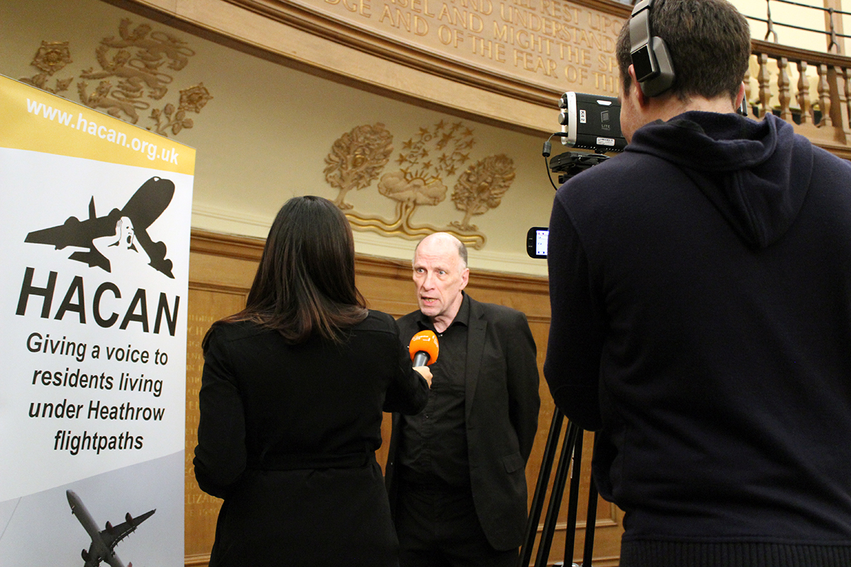 HACAN Chair John Stewart, interviewed by London Live.